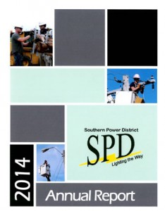 Image and link to 2014 Annual Report for Southern Public Power District