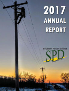 Image and link to 2017 Annual Report for Southern Public Power District